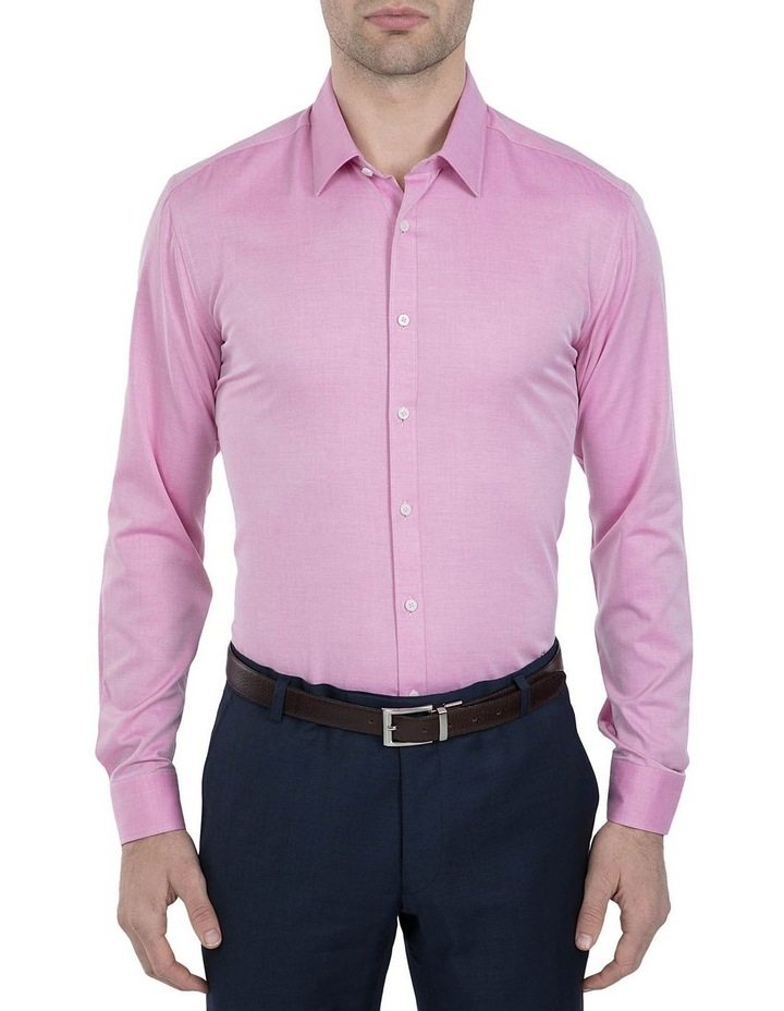 Slim Fit Pink Cotton Flame Shirt image 1