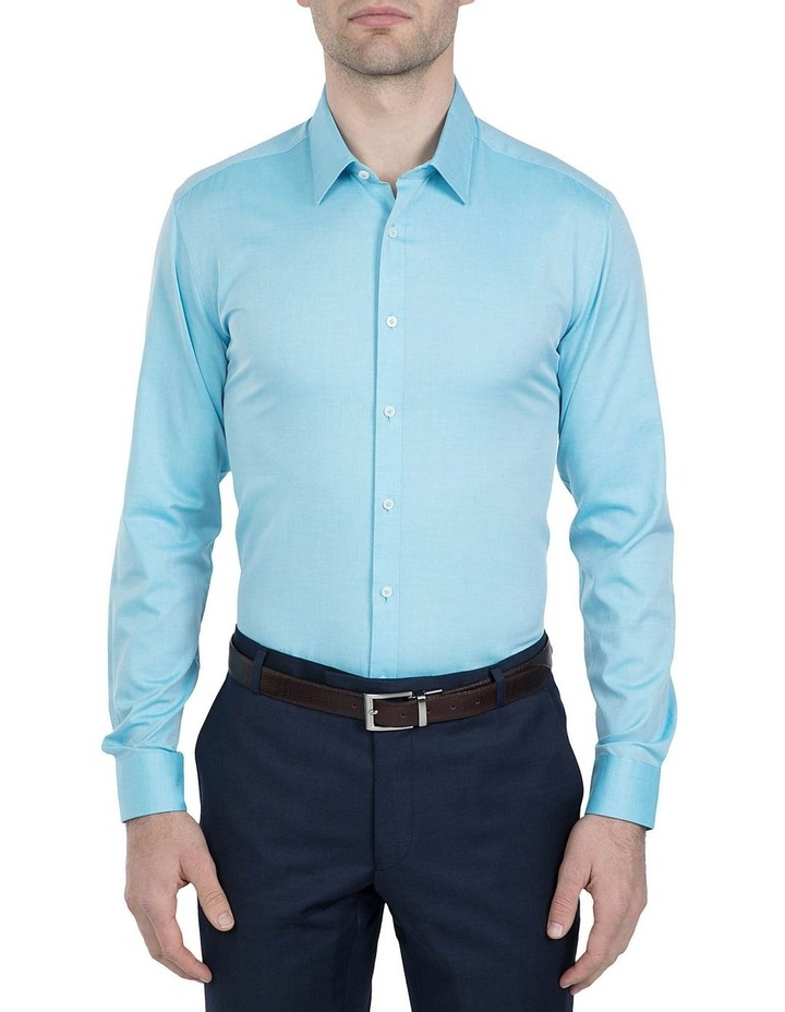 Slim Fit Teal Cotton Flame Shirt image 1