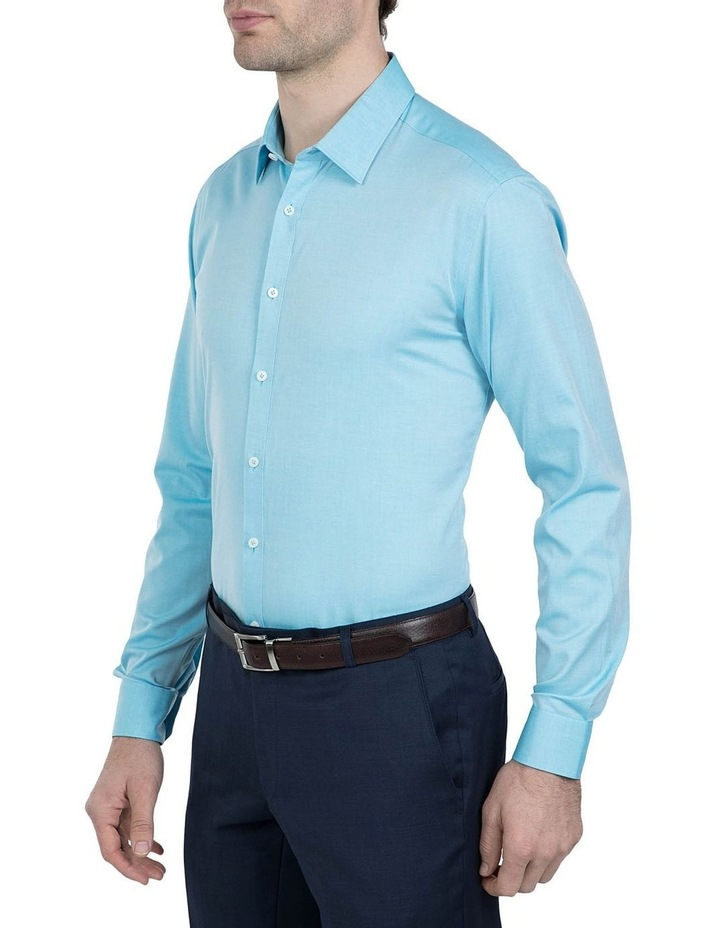 Slim Fit Teal Cotton Flame Shirt image 2