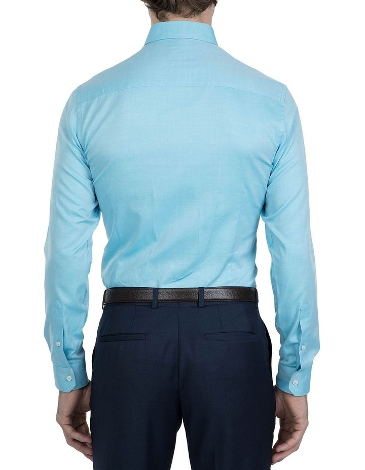 Slim Fit Teal Cotton Flame Shirt image 3