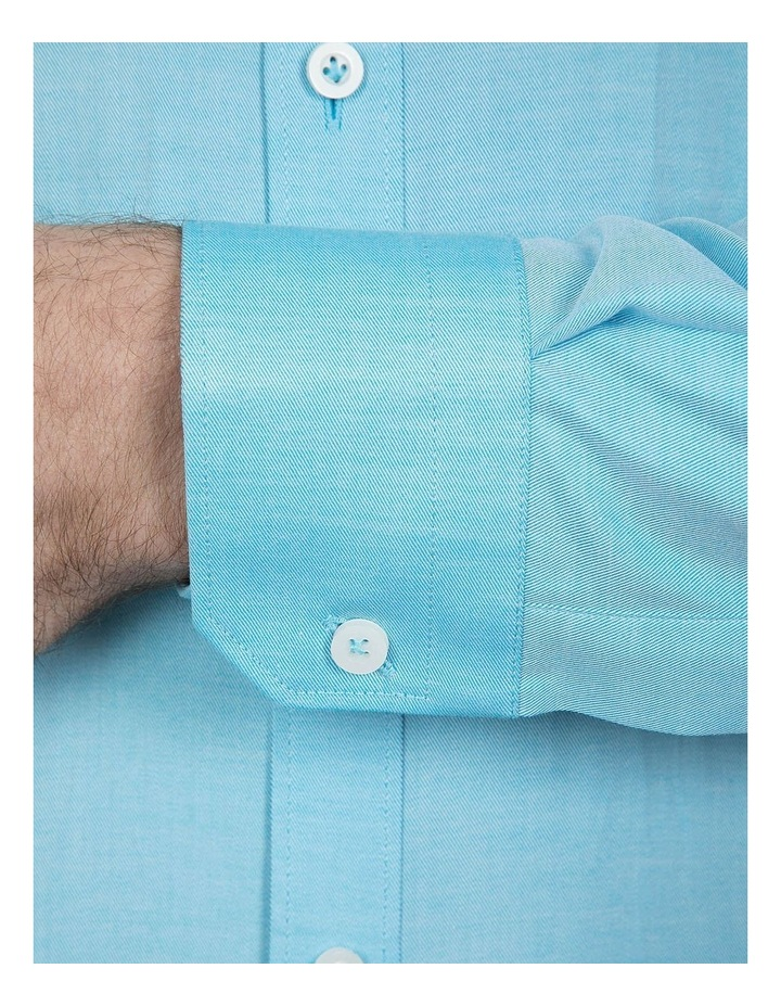Slim Fit Teal Cotton Flame Shirt image 4