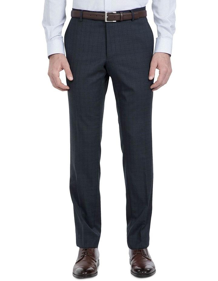 Slim Fit Navy Caper Trouser image 1