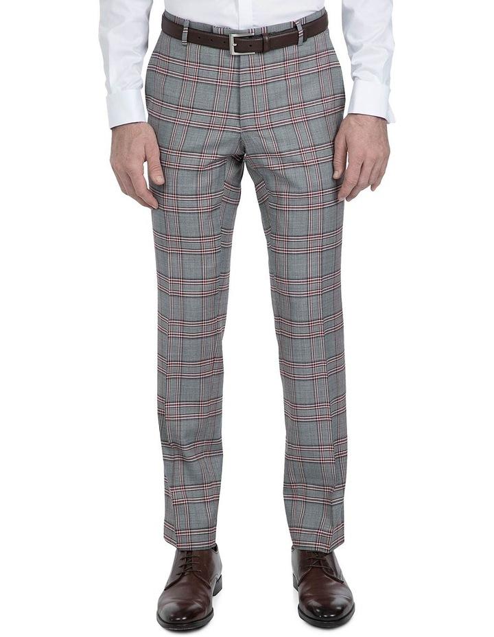 Slim Fit Grey Check Caper Trouser image 1