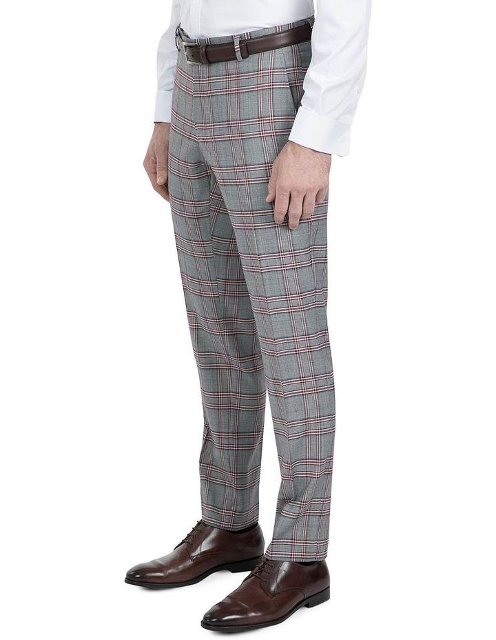 Slim Fit Grey Check Caper Trouser image 2