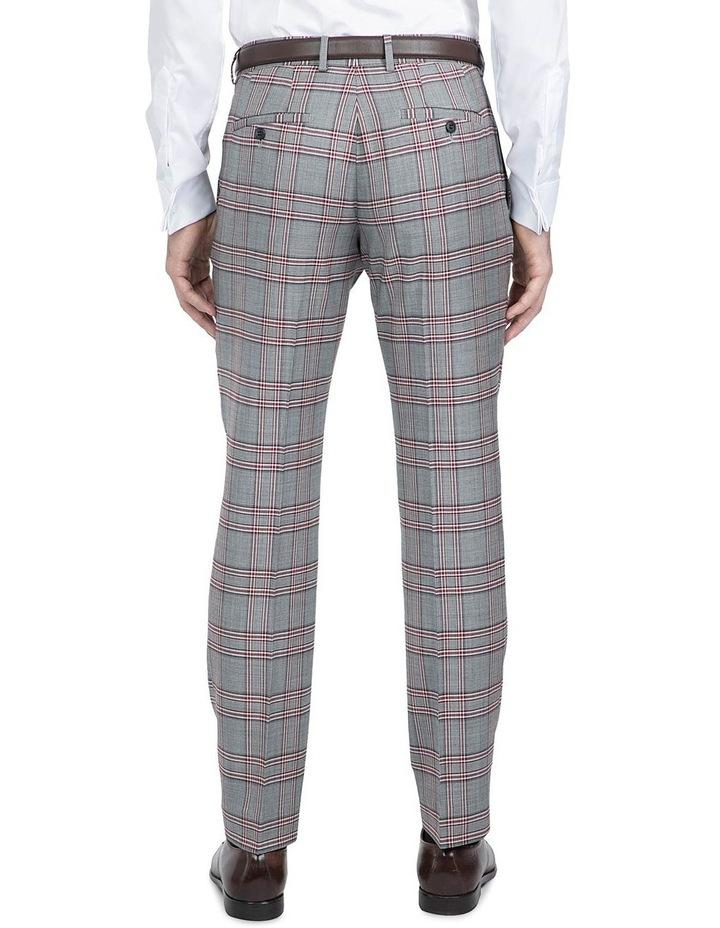 Slim Fit Grey Check Caper Trouser image 3