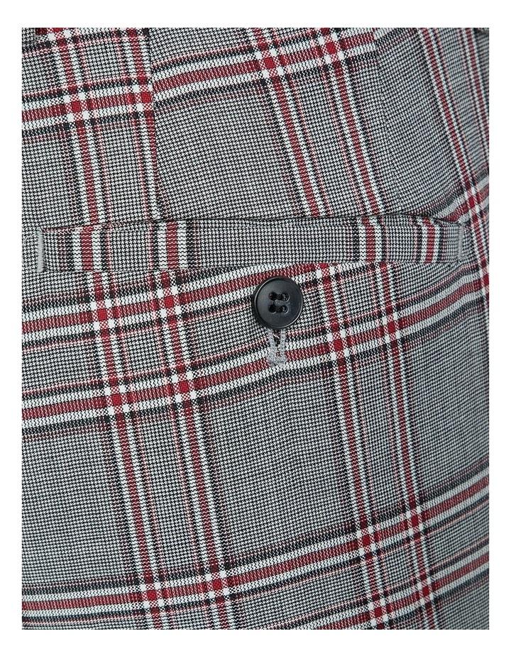 Slim Fit Grey Check Caper Trouser image 4