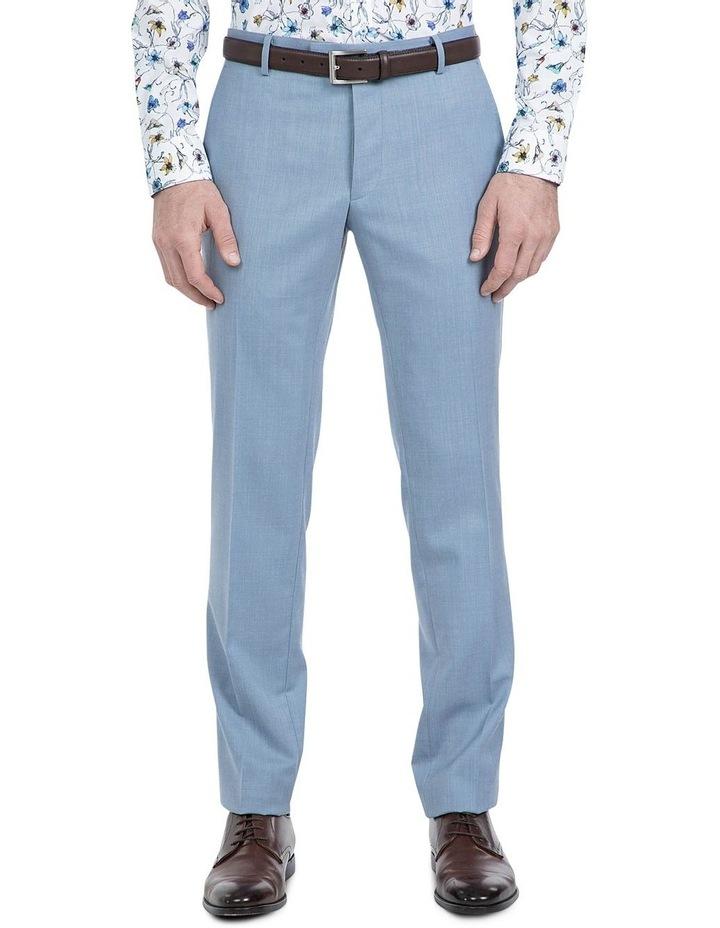 Slim Fit Light Blue Caper Trouser image 1