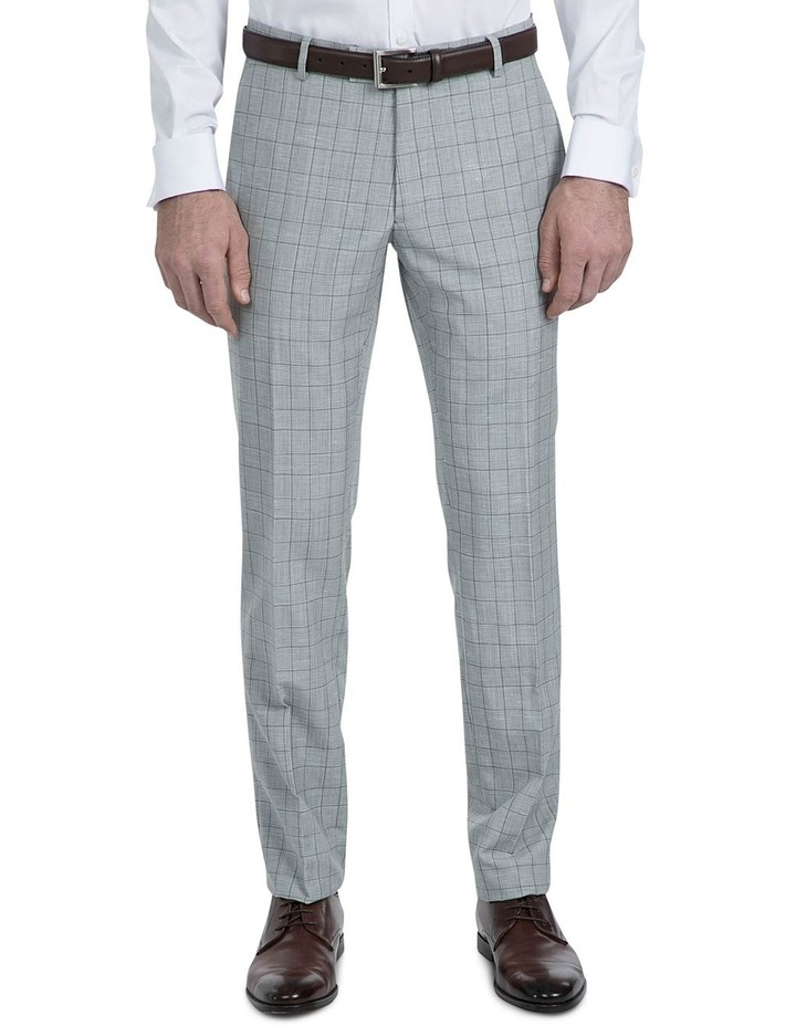 Slim Fit Light Grey Caper Trouser image 1