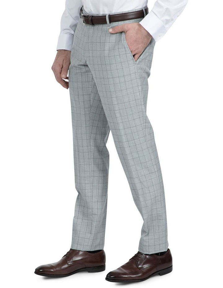 Slim Fit Light Grey Caper Trouser image 2