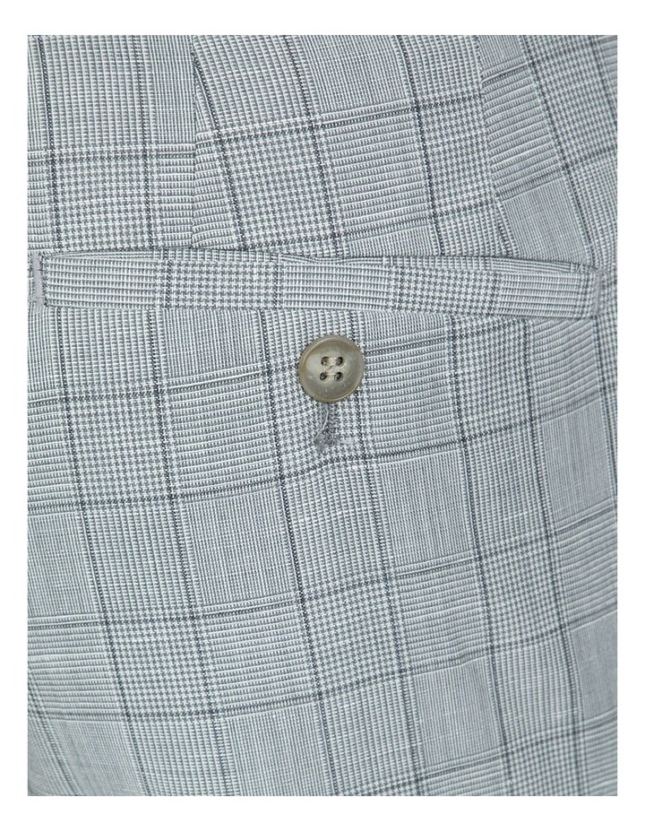 Slim Fit Light Grey Caper Trouser image 4