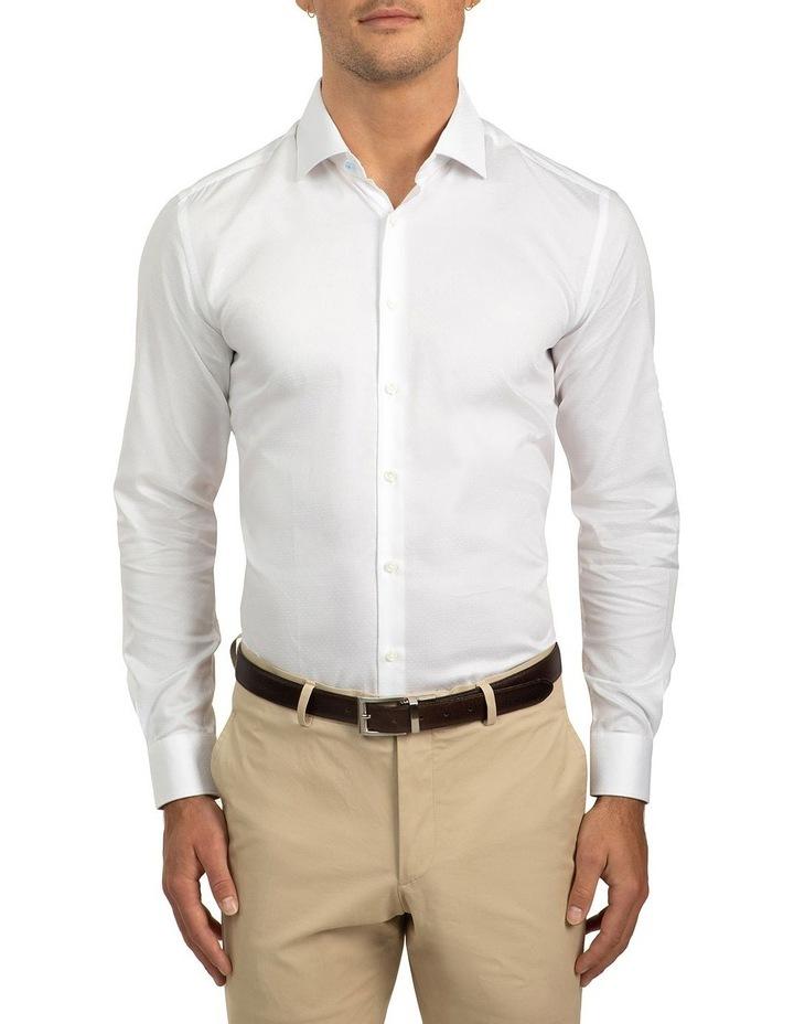 Slim Fit White Motion Shirt image 1