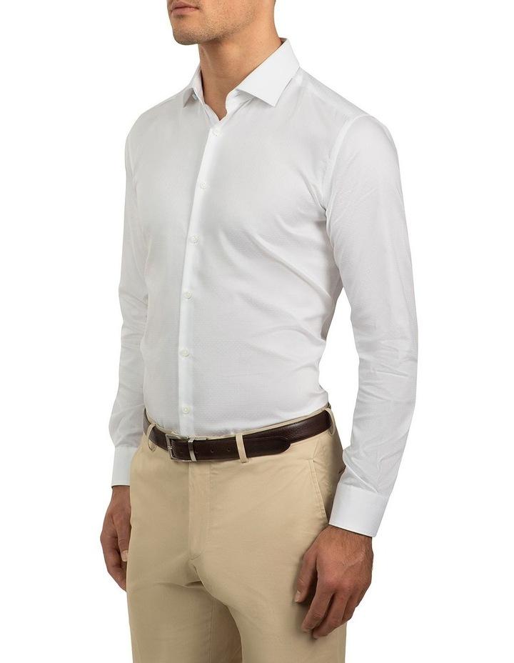 Slim Fit White Motion Shirt image 2