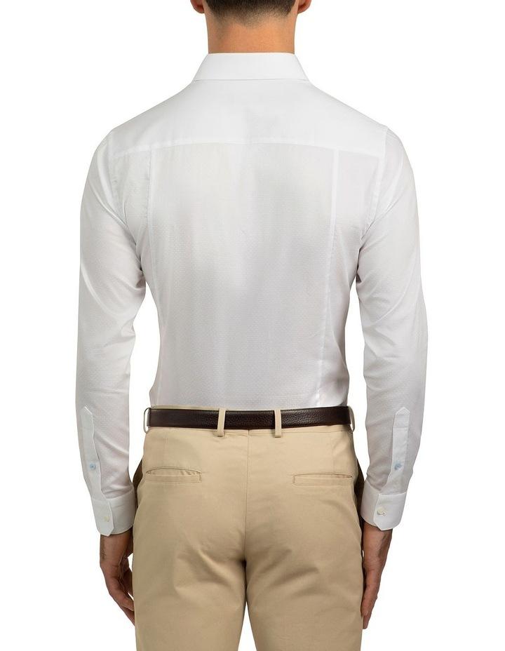 Slim Fit White Motion Shirt image 3