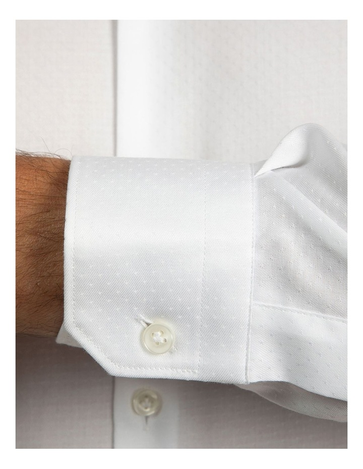 Slim Fit White Motion Shirt image 4