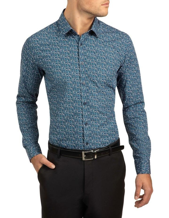 Blue Slim Fit Flame shirt image 1