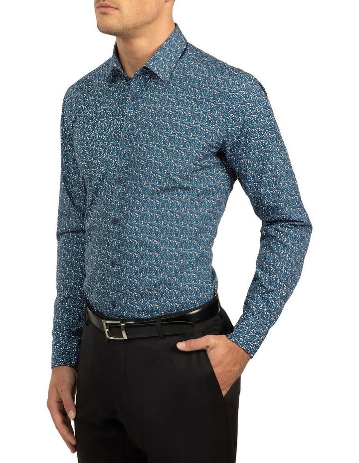 Blue Slim Fit Flame shirt image 2