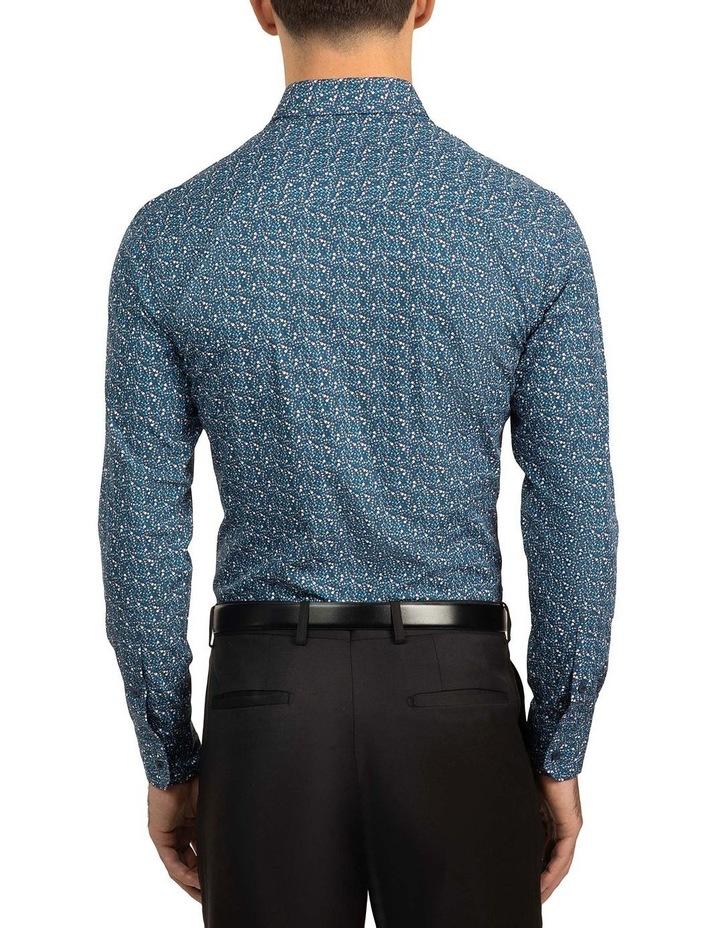 Blue Slim Fit Flame shirt image 3