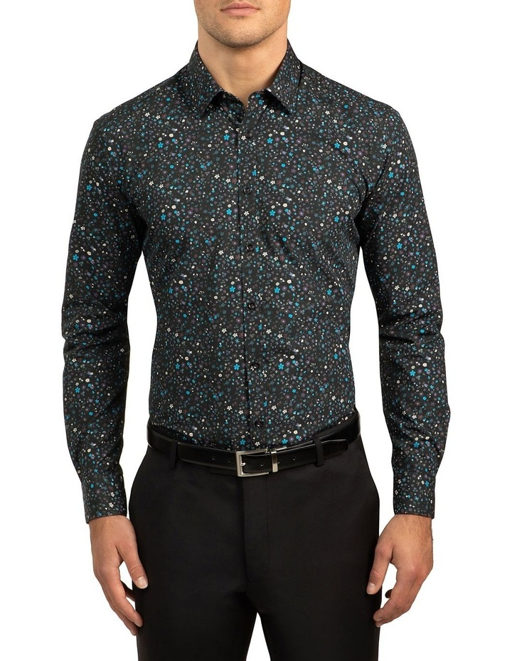 Black Slim Fit Redox Shirt image 1