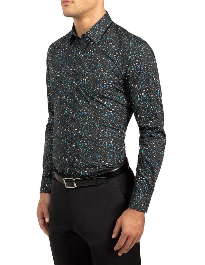 Black Slim Fit Redox Shirt image 2