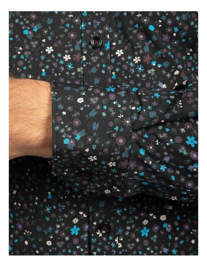 Black Slim Fit Redox Shirt image 4