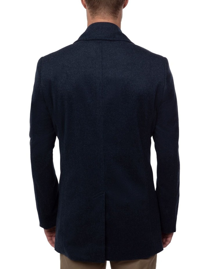 Blue Double Breasted Spark Overcoat FGJ640 image 3