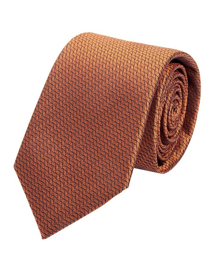 Orange Gibson Thatch Weave Silk Tie image 1
