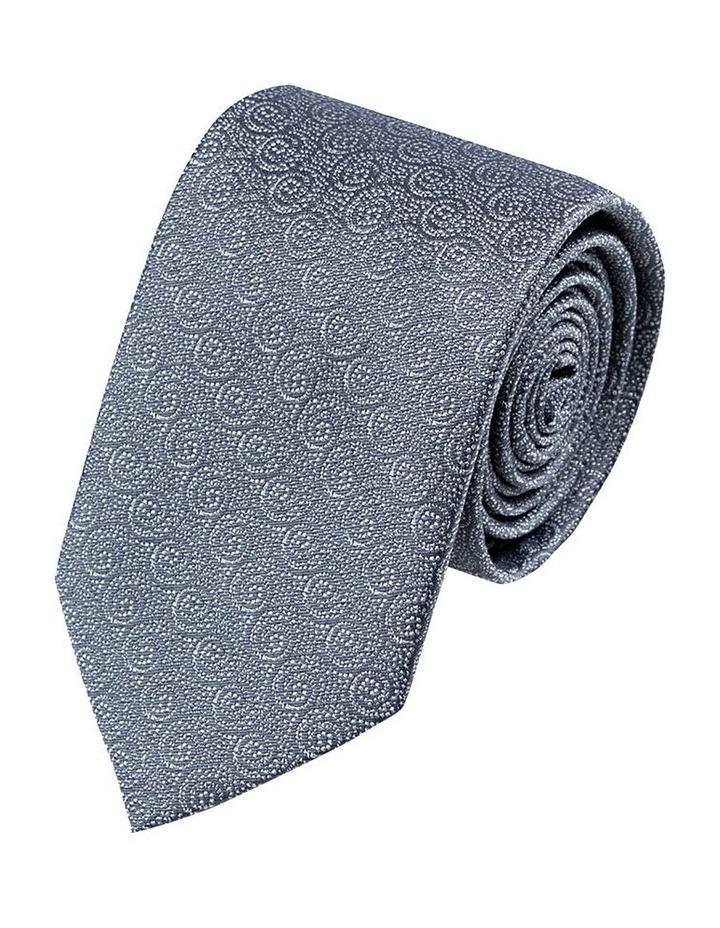 Grey Tonal Waves Tie image 1