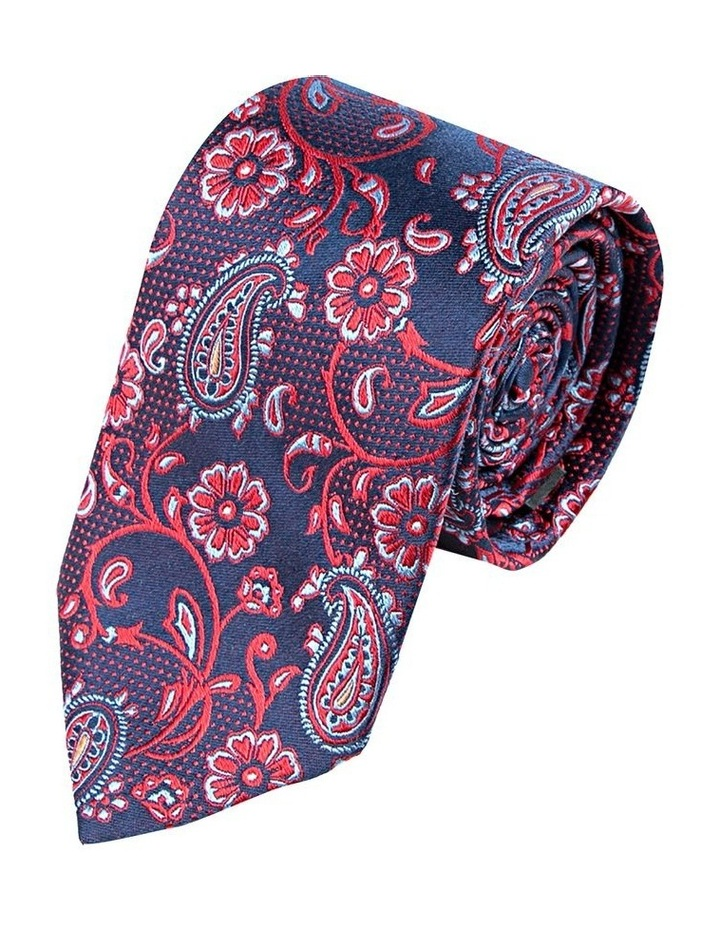 Navy Paisley Floral Tie image 1