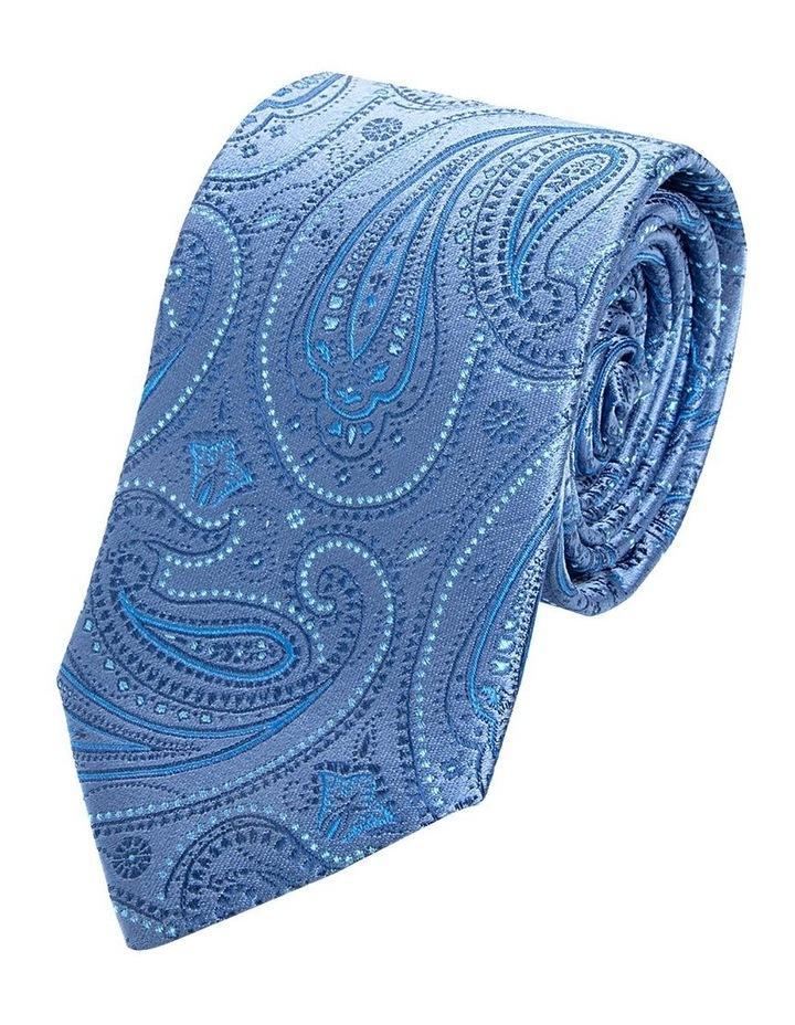 Blue Pindot Paisley Silk Tie image 1