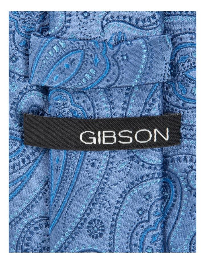 Blue Pindot Paisley Silk Tie image 2
