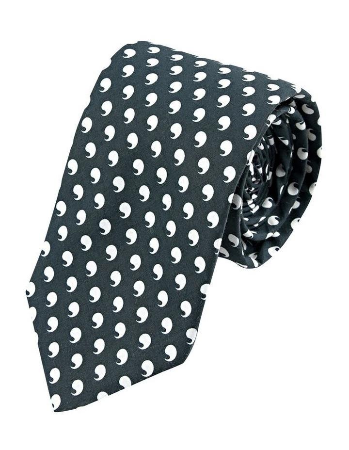 Black Comma Cotton Tie image 1