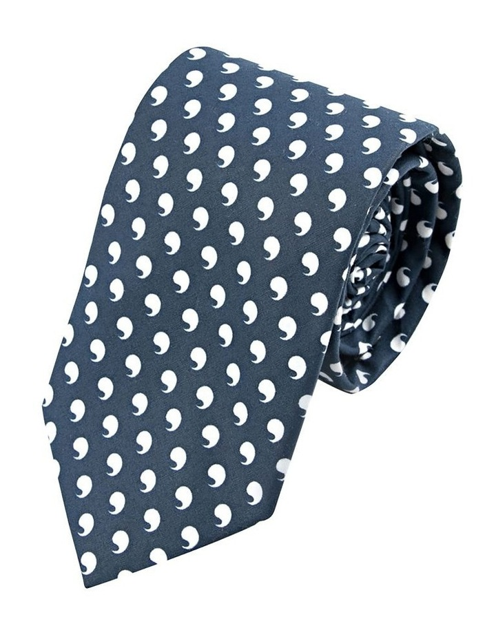 Navy Comma Cotton Tie image 1