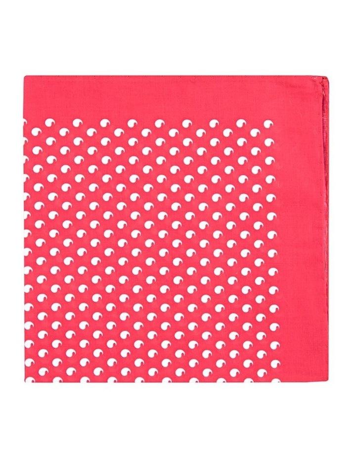 Red Comma Cotton Pocket Square image 1