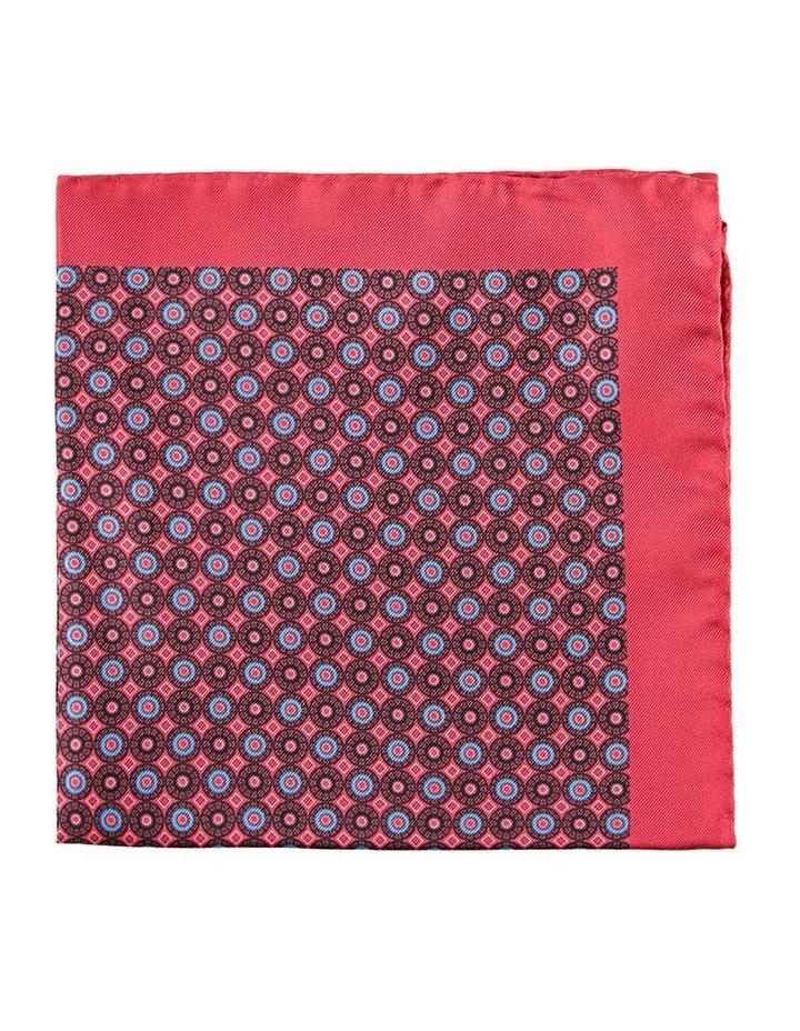 Red Dials Silk Pocket Square image 1