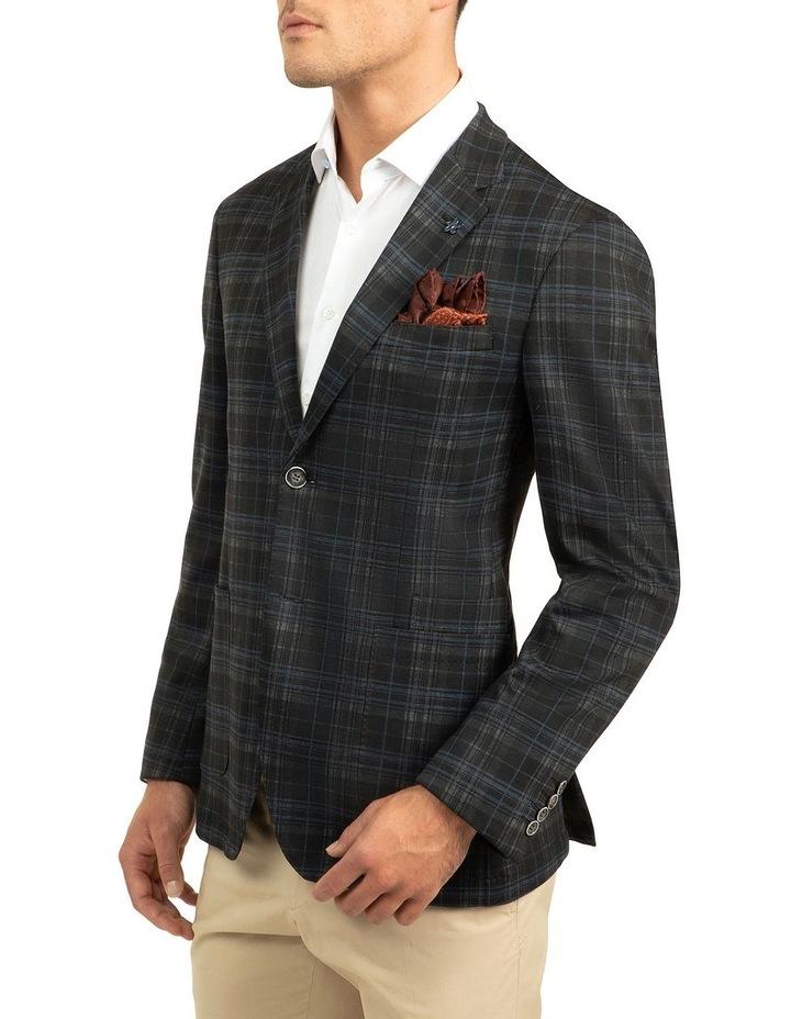 Black Slim Fit Atom Jacket image 2