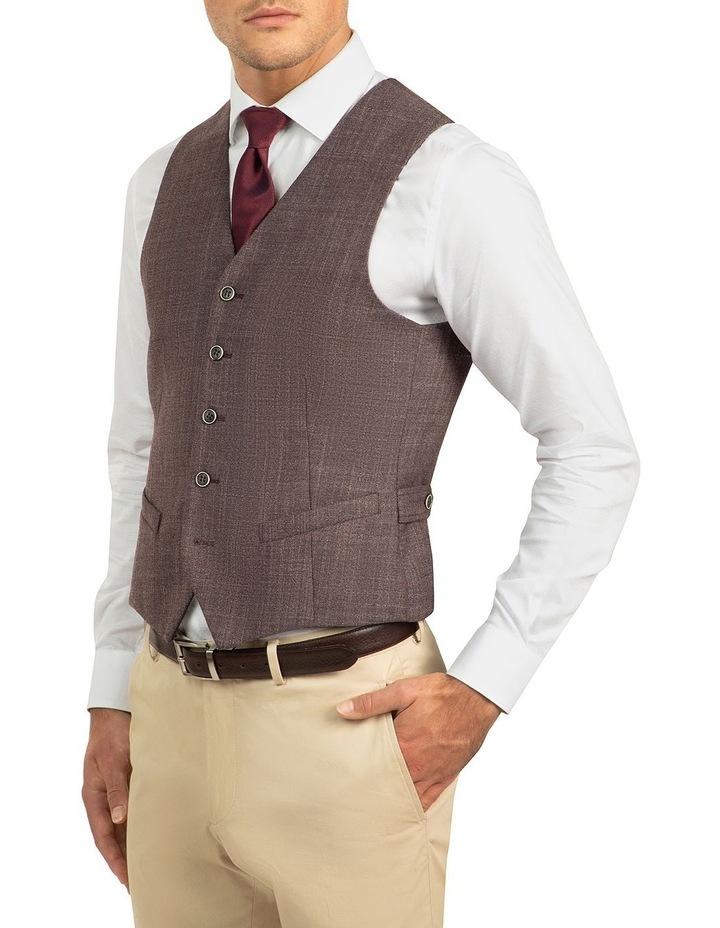 Plum Slim Fit Boom Vest FGJ606 image 2