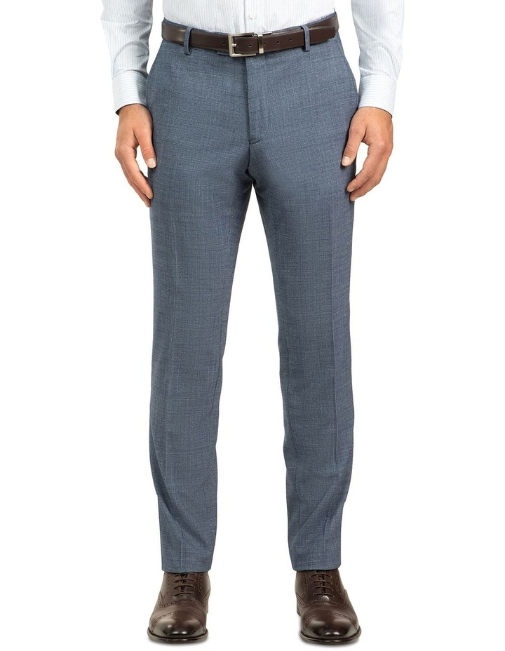 Blue Slim Fit Caper Trouser FGJ612 image 1