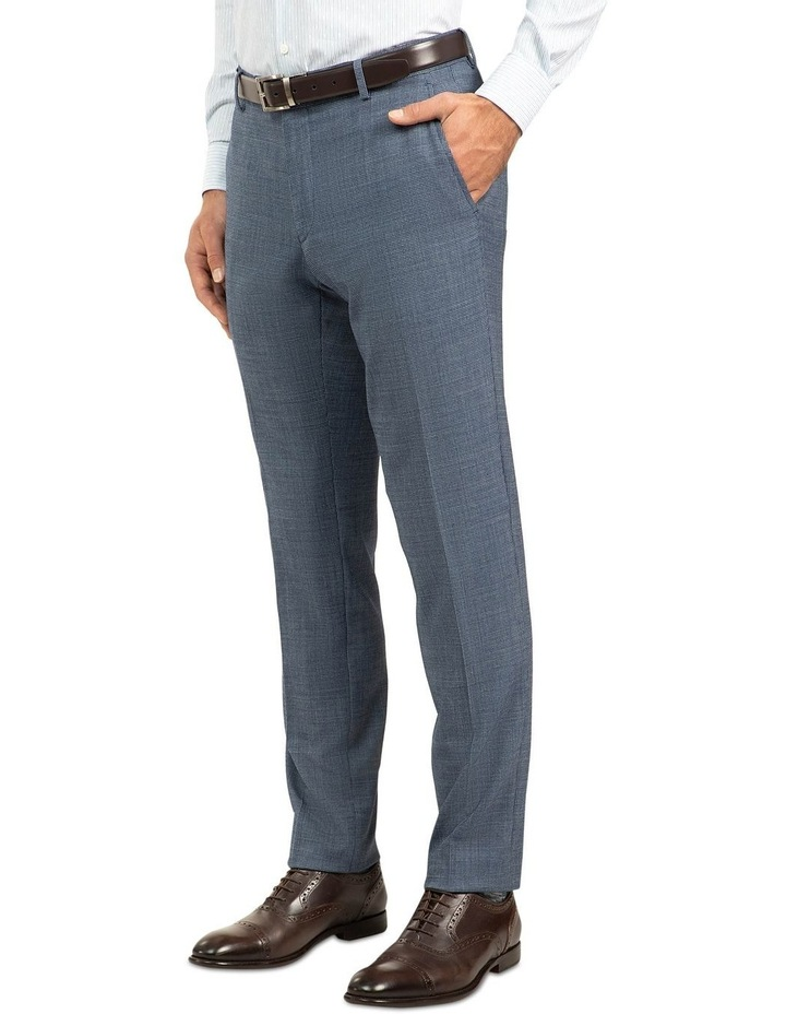Blue Slim Fit Caper Trouser FGJ612 image 2