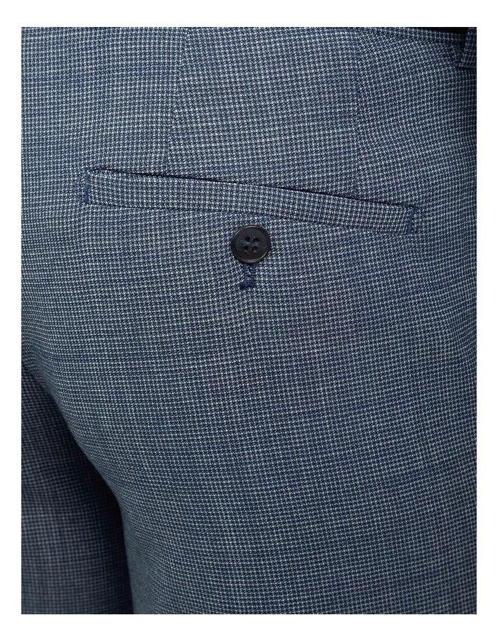 Blue Slim Fit Caper Trouser FGJ612 image 4