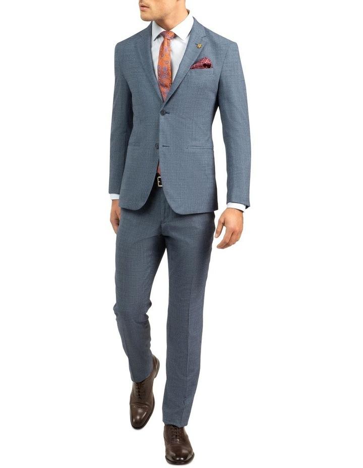 Blue Slim Fit Caper Trouser FGJ612 image 5