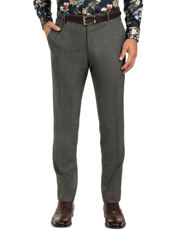 Dark Grey Slim Fit Caper Trouser FGJ611 image 1