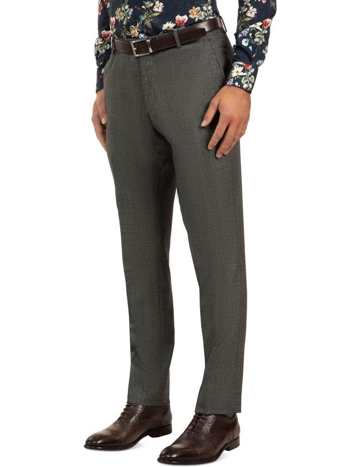 Dark Grey Slim Fit Caper Trouser FGJ611 image 2