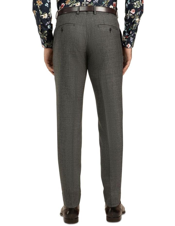 Dark Grey Slim Fit Caper Trouser FGJ611 image 3