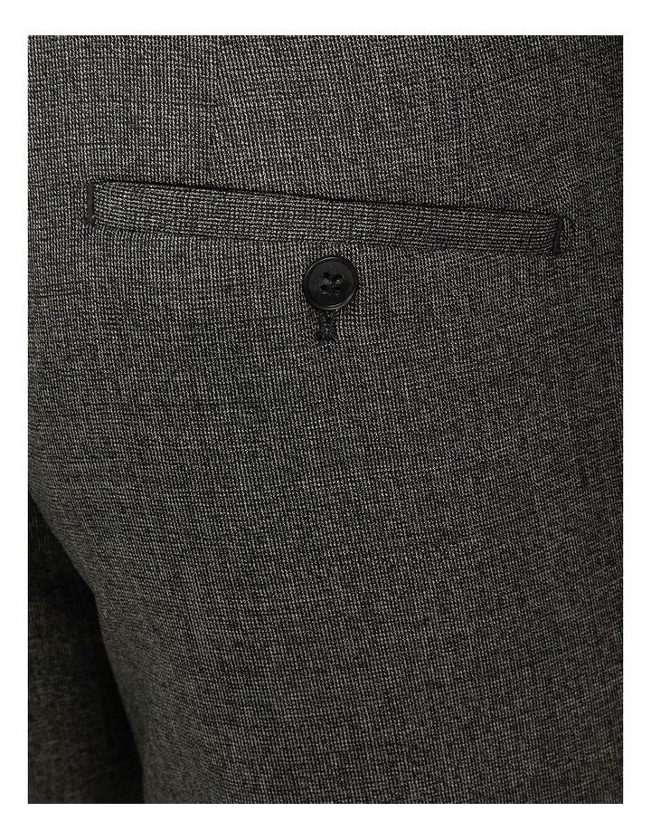 Dark Grey Slim Fit Caper Trouser FGJ611 image 4