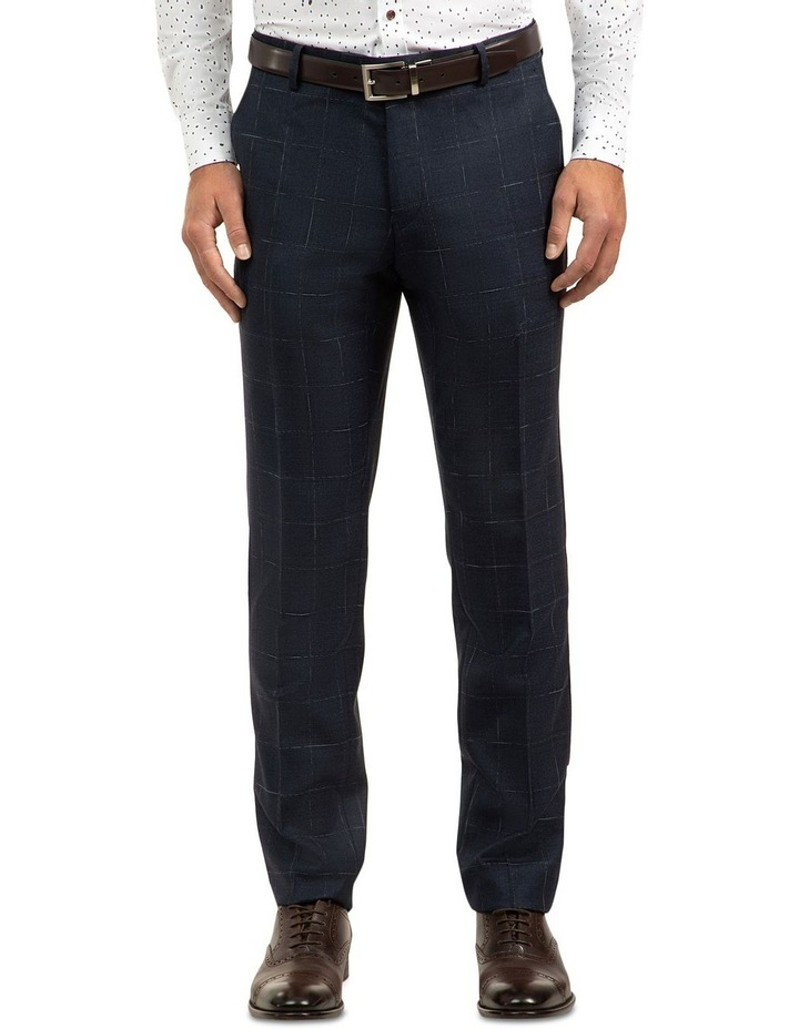 Navy Slim Fit Caper Trouser FGJ608 image 1