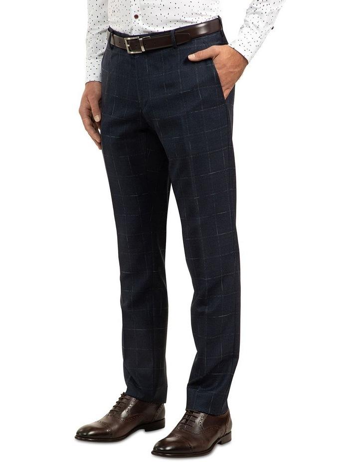 Navy Slim Fit Caper Trouser FGJ608 image 2