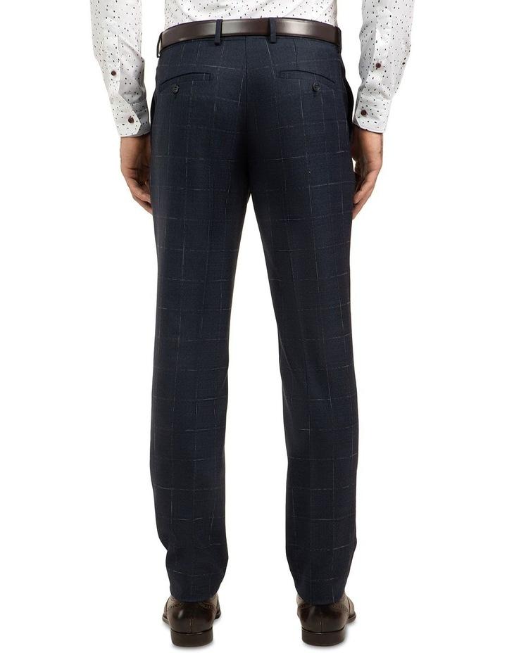 Navy Slim Fit Caper Trouser FGJ608 image 3