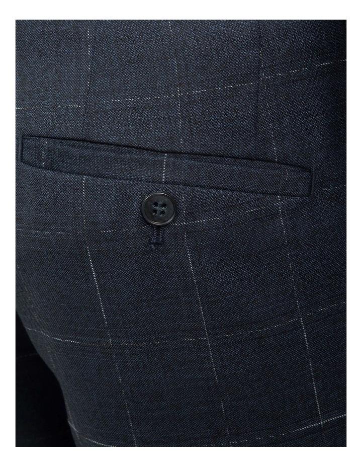 Navy Slim Fit Caper Trouser FGJ608 image 4