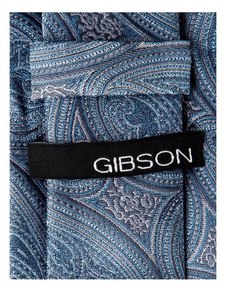 Slim Blue Matte Paisley Silk Tie-Sky image 2
