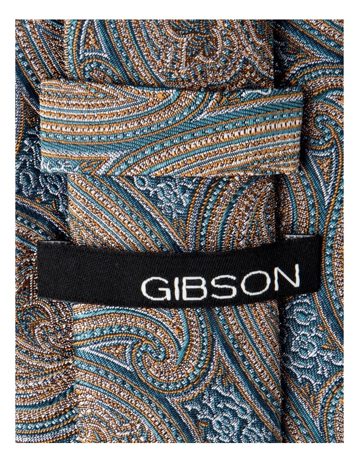 Slim Matte Paisley Silk Tie-Taupe image 2